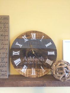 A personal favorite from my Etsy shop https://www.etsy.com/ca/listing/484633789/multi-stain-reclaimed-wood-clock