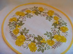 Mid Century  Printed Table Doily Doilie  by EauPleineVintage, $5.00