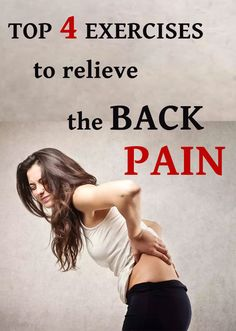 Four best exercises for back pain relief