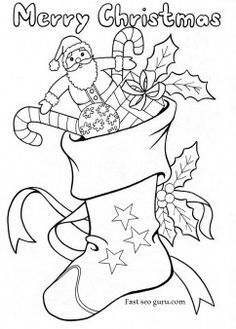 free print out activities worksheets christmas stockings with candy and toys coloring pages for preschool
