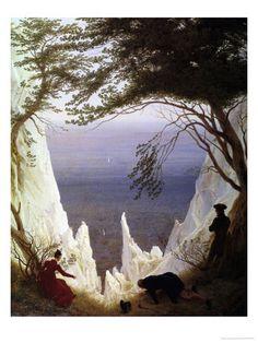 White Cliffs of Ruegen Impressão giclée por Caspar David Friedrich na AllPosters.com.br