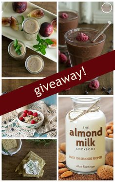 Enter to win a copy of @alanroettinger's The Almond Milk Cookbook + get his recipe for luscious Chocolate-Raspberry Smoothie. An Unrefined Vegna.