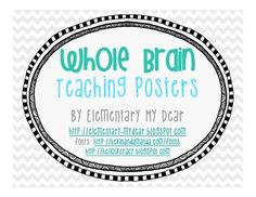 Whole Brain Teaching Posters FREEBIE