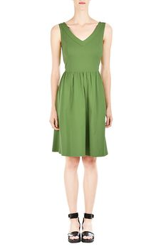 I <3 this Cotton knit banded back dress from eShakti