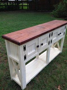Farmhouse Style Shabby Chic Side Board or Buffet. Annie Sloan Chalk Paint. The Rustic Acre College Station, TX