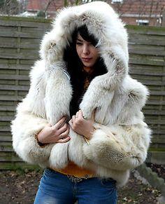Polarfuchs volpe FUCHS FOX Fuchsmantel Pelzjacke Pelz шуба | eBay