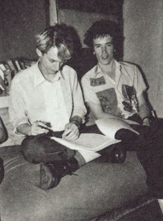 John Lydon ( Johnny Rotten (Sex Pistols)) and Keith Levene ( The Clash)from Public image Ltd. Early PIL days