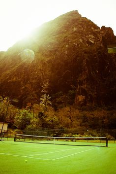 Tennis courts in St. Lucia, or as I like to call it, paradise!