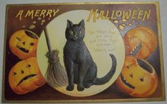 Vintage Halloween Postcard     Ellen H. Clapsaddle   by riptheskull