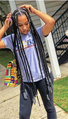 Crochet Braids Marley Hair, Poetic Justice Braids, Braided Hairstyles, Hair Ideas, Kimono Top, Hair Color, Ear, Facts, Tattoo