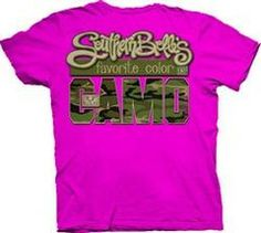 Southern Belle Funny Favorite Color Camo Pink Girlie Bright T Shirt | SimplyCuteTees