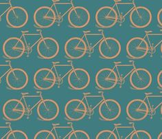 retro bicycles cloudycapevintage A vintage bicycles pattern in retro colors.