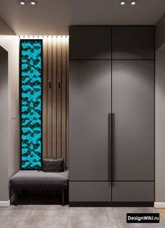 Intense Neoclassical Interior with Cobalt and Emerald Coloured Accents - Her Crochet Wall Wardrobe Design, Wardrobe Door Designs, Wardrobe Room, Wardrobe Furniture, Bedroom Closet Design, Home Room Design, Home Interior Design, Corridor Design, Foyer Design