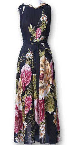 Lovely Floral Full-Length Dress <3