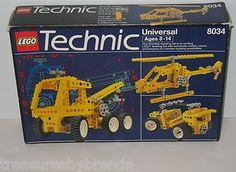 Lego Technic Universal Building Set 8034 from 1991 allowed you to use your imagination and create vehicles of many types. It's listed on eBay for $34.96 with FREE U.S. & Canadian shipping. #lego