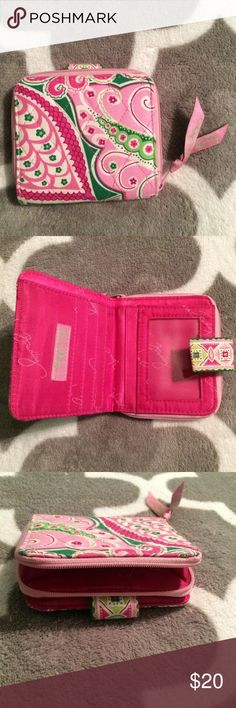 Vera Bradley Wallet Super cute pink Vera Bradley wallet, make an offer! Vera Bradley Accessories