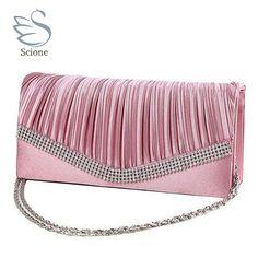 Women Day Clutch Bag Candy Color Ladies Evening Hand Bags Chain Handbags  Designer Bridal Wedding Party Purse bolsas mujer XA584C e8e88ea4ada2