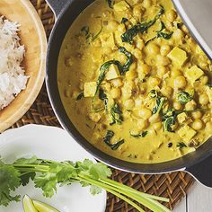 A quick and easy to make vegan chickpea, tofu and spinach curry that will  warm you up and impress your friends and family!
