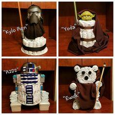 Star Wars Theme Diaper Cakes!