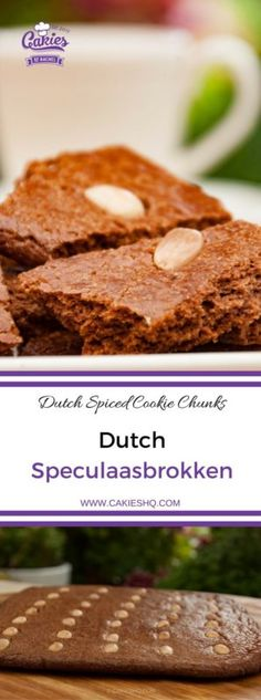 Dutch Speculaasbrokken are spiced cookie chunks. It's a Dutch treat that's usually eaten during fall and winter, around Saint Nicholas Day and Christmas. #dutchfood #dutchrecipe #saintnicholas #speculaascookie