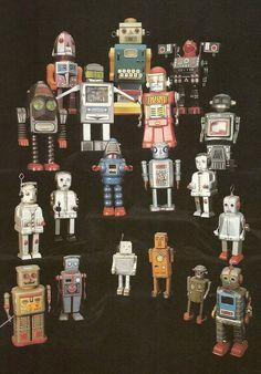 Vintage Robot Collection Fridge Magnet Sci-Fi Robots. $3.00, via Etsy.