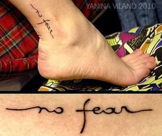 No Fear Ankle Tattoo. I just love the font