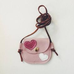 Raine + Skye Wanderlust Pocket Hearts - Tanya S. Leather Wallet Pattern, Leather Pouch, Leather Crossbody Bag, Baby Girl Hair Accessories, Bag Accessories, Kids Purse, Diy Handbag, Fabric Bags, Little Bag