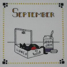 $12.00  Pre Order Cross Stitch Kats By Kelly September Take Me Too Stitched by CrossStitchCards