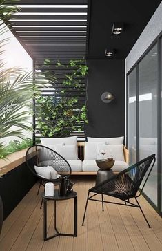 modern outdoor seating area, modern outdoor furniture, modern outdoor living room with outdoor sofa and black house Modern Furniture Stores, Modern Outdoor Furniture, Outdoor Balcony Furniture, Deck Furniture, Rustic Furniture, Modern House Design, Modern Interior Design, Modern Interiors, Outdoor Furniture Inspiration