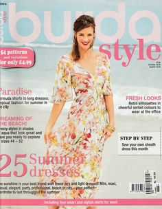 Burda Style Magazine June 2016 Issue in English Factory Folded Uncut Patterns by EmeraldSewingChest on Etsy