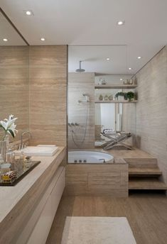 Awesome Plywood Bathroom Wall Design Ideas Modern House - Home Decor Modern Bathroom, Master Bathroom Design, Remodeling Mobile Homes, Amazing Bathrooms, Bathrooms Remodel, Budget Bathroom Remodel, Small Remodel, Apartment Decor, Best Bathroom Designs