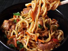 Chinese Food, Healthy Tips, Noodles, Spaghetti, Food And Drink, Beef, Cooking, Ethnic Recipes, Projects