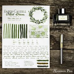 Faber Castell Fountain Pen, Fountain Pen Ink, Anderson Pens, Calligraphy Worksheet, Graf Von Faber Castell, Penmanship, Caligraphy, Pen And Paper, Writing Instruments