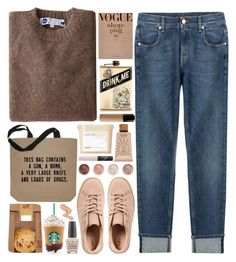 Undesirable Luggage by ladyvalkyrie on Polyvore featuring 7 For All Mankind, Industry Of All Nations, tarte, Terre Mère, NARS Cosmetics, Davines and OPI