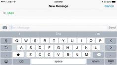 Predictive text iPhone