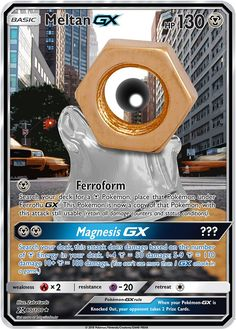 Meltan GX Custom Pokemon Card - Pokemon about you searching for. Cool Pokemon Cards, Rare Pokemon Cards, Pokemon Trading Card, Pokemon Movies, Pokemon Toy, Cute Pokemon, Mega Mewtwo, Pokemon Eeveelutions, Charizard