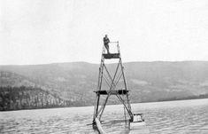 Diving tower on Kalamalka Lake