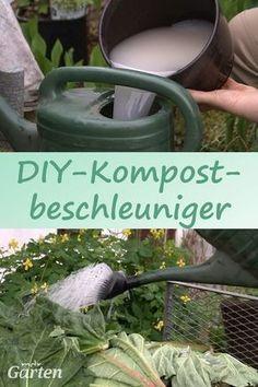 Ein Hausmittel, um die Verrottung im Kompost zu beschleunigen, lässt sich selbst herstellen: Aus Hefe, Zucker und Wasser machen wir Kompostbeschleuniger.