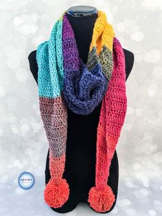 The Chroma Scarf has a similar shape to my popular Strawberry Patch Convertible Scarf and I LOVE how simple and quickly this one is to work up.  It takes just one cake of Lion Brand Mandala yarn and will be perfect for gifting around the holidays!  I hope you enjoy my new free crochet pattern.