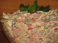 Sałatka paseczkowa Food Dishes, Side Dishes, Polish Recipes, Polish Food, Tortellini, Vegetable Salad, Coleslaw, Potato Salad, Cabbage