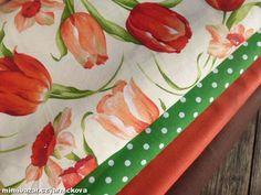 červeno oranžové tulipány