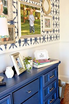 Top This Top That: My Office Makeover... and the prettiest shade of blue