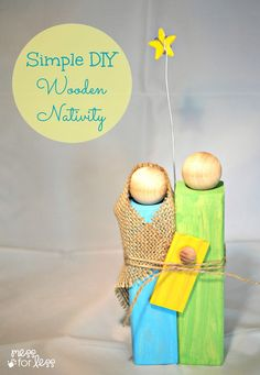 Homemade Christmas Gifts - Wooden Nativity Craft