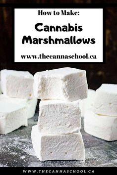 Weed Recipes, Marijuana Recipes, Cooking Recipes, Marijuana Butter, Weed Butter, Cannabis Cookbook, Recipes With Marshmallows, How To Make Marshmallows, Homemade Marshmallows