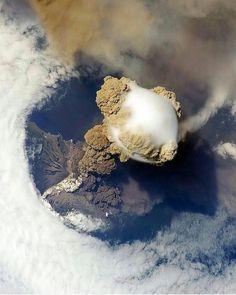 Guatemala Volcano   Photo by International Space Station [1080x1350]