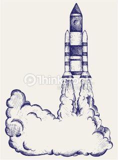 Retro Rocket Vector Art 450496301 Retro Rocket, Retro Illustration, Illustrations, Space Rocket, Free Vector Art, Doodles, Black And White, Drawings, Poster