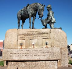 """Used on """"Words on Stone""""/ port eliz_wikimedia Port Elizabeth, Photo Online, Armed Forces, South Africa, My Photos, Lion Sculpture, Arms, Horses, Image"""