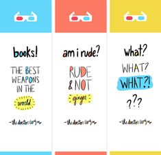 Free printable Dr. Who bookmarks!