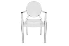 Baxton Studio Dymas Modern Acrylic Armed Ghost Chair Dymas Modern Acrylic Armed Ghost Chair wholesale, wholesale furniture, restaurant furniture, hotel furniture, commercial furniture