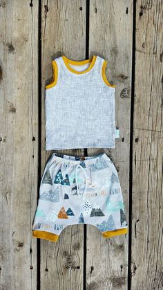 Adventure Harem Shorts and Tank Top Outfit Baby by brambleandbough